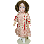 "Adorable 12"" Antique Bisque Head Doll with Ball Jointed Composition Body"