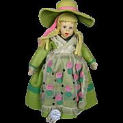 1930s Italian Felt Lenci Mascot Size Girl Doll ~ Double Tagged