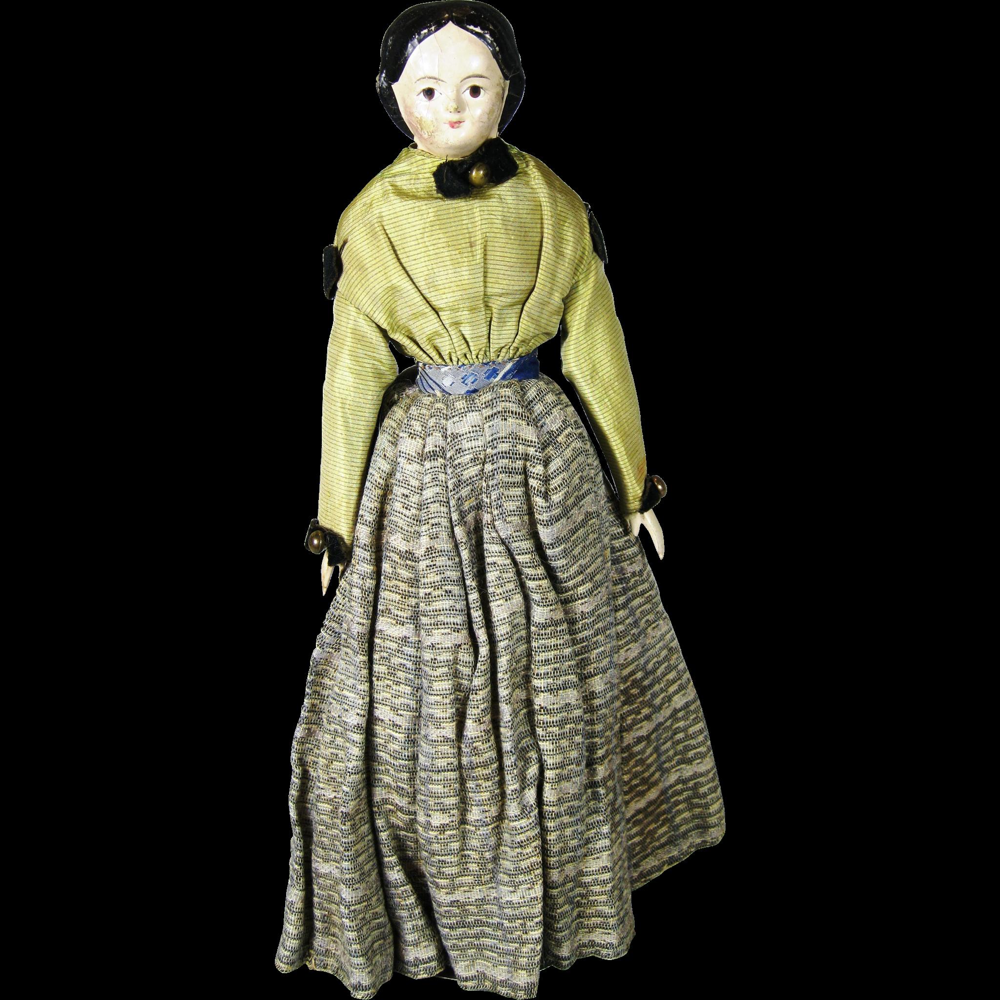a o antique 11 german papier mache milliner 39 s model doll from victoriasdollhouse on ruby lane. Black Bedroom Furniture Sets. Home Design Ideas