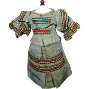 Antique Doll Dress  ~ China Head, Papermache or German French Fashion Types