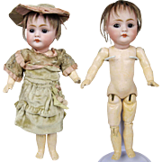 """Adorable 8"""" Kestner 143 Character German Doll ~ Tiny Fully Jointed Body"""