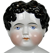 Antique Large China Doll Head ~ Gorgeous face!
