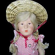 Vintage 1950s Kathe Kruse Doll 19 inch German Child 52H - Red Tag Sale Item