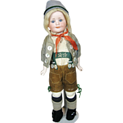 Rare Armand Marseille Charactor Doll 640 with Glass Eyes, A/O Clothing