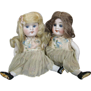 Kestner All Bisque Sister Twin Dolls ~ All Original & Matching!