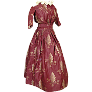 Antique Doll Dress for Fashion Type Doll ~ China, Papermache, French or German
