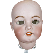Large Antique German Simon Halbig Bisque Doll Head