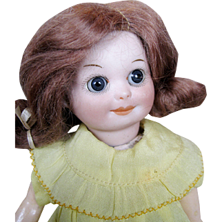 "Adorable 7"" Googly 253 Nobbi Kid AM Marseille Antique Doll"