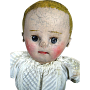 Early Martha Chase Oil Cloth Antique Primitive Doll ~ Much Loved