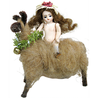 """Tiny 2 3/4"""" All Bisque Mignonette Doll with Swivel Neck"""