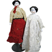 Two Small Antique China Head Dolls