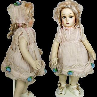 Dramatic NATI Cloth Doll circa 1930s Spain - Lenci Raynal Type