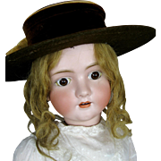 Large Antique German Walkure Bisque Head Doll ~ So Sweet!