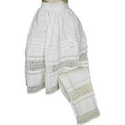 Antique Matched Set Slip and Pantaloons for your Doll ~ Gorgeous Details!