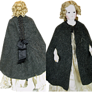 Antique French Fashion Doll Beaded Cape