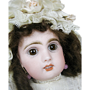 "13"" French Jumeau Antique Doll ~ Great cabinet size!"