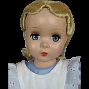 "18"" 1951 Vintage Madame Alexander Alice in Wonderland Maggie Face Hard Plastic Doll"