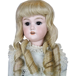 Antique German Bisque Head Mystery Doll