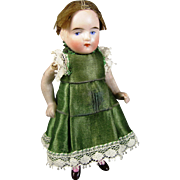 So Sweet Antique All Bisque German Doll, Original Dress