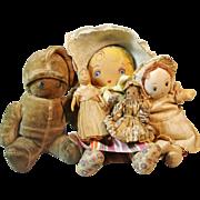 Group of Antique & Vintage Cloth Dolls ~ Georgene Novelties, Other