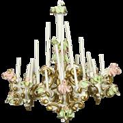 Vintage Spielwaren Szalasi Ornate Chandelier, Candelabra, Clock Miniature Dollhouse