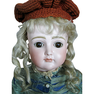 Antique Early Kestner CM Closed Mouth Bisque Head Pouty Doll