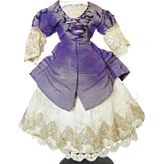 French Fashion Antique Doll Clothing Dress