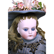 Cabinet Size Antique German Bisque Head CM Closed Mouth Child Fashion Doll