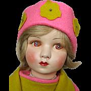 French Cloth and Felt Raynal Lenci Type Doll