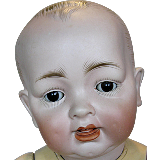 Large Antique German Bisque Head Toddler Doll