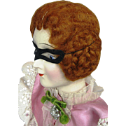 1920s Masked Boudoir Masquerade Flapper Deco Bed Doll