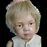 Early Incised Mark Schoenhut Brown Eyed Boy Doll