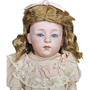 Gebruder Heubach Antique Pouty Character Doll with Glass Eyes