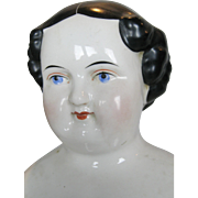 1860s Antique Kestner Rounded Flat Top China Head Doll