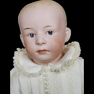 Antique Gebruder Heubach Pouty Bisque Head Doll