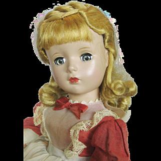 1950s Madame Alexander Hard Plastic Meg Doll Little Women