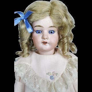 "Adorable 14"" Antique German Peter Scherf Bisque Head Doll"