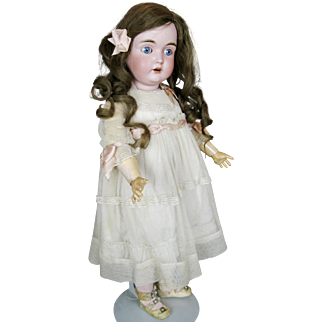 A/O Exquisite Antique Kestner German Bisque Head Doll