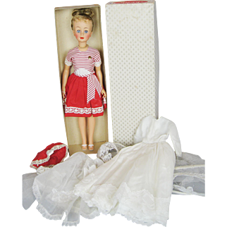 Rare 1962 Ideal Jackie Fashion Doll in Original Outfit, Box, Extra Outfit