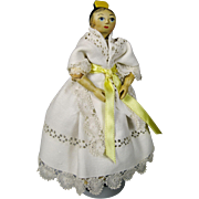 Sherman Smith Vintage Wood Tuck Comb Peg Doll