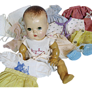 American Character Tiny Tears Doll with Extra Clothing Dresses