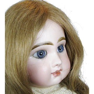 """Gorgeous 20"""" Antique French Tete Jumeau Closed Mouth Bebe Doll"""