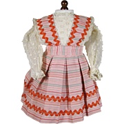Vintage Doll Dress with Separate Skirt 30s 40s 50s