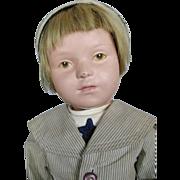 "Early Schoenhut 19"" Wood Doll ca 1916 ~ Great Face!"