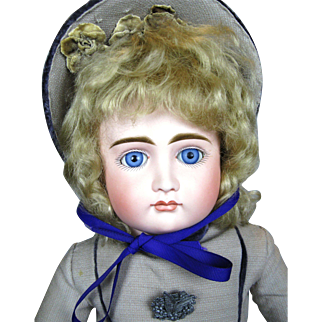"""19"""" Early Kestner Closed Mouth Pouty Child Antique German Doll"""