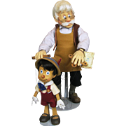 R. John Wright Geppetto and Pinocchio Felt Dolls ~ First Series