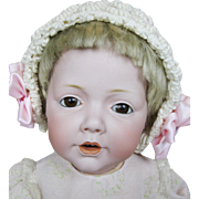"Antique 19"" German Kestner Hilda Bisque Head Doll"
