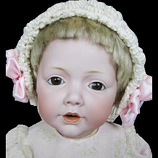 """Antique 19"""" German Kestner Hilda Bisque Head Doll"""