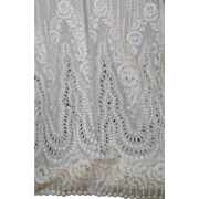 Gorgeous Antique Eyelet  Embroidered Fabric Slip for Doll Clothing