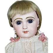 "19"" Tete Jumeau French Bebe Closed Mouth Antique Doll"
